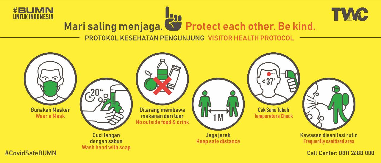 Peraturan Mengunjungi Kawasan Wisata Candi Borobudur (Gambar via borobudurpark.com)